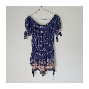 Band of Gypsys Off / On the Shoulder Romper